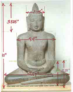 Reproduction sample for Seated Buddha