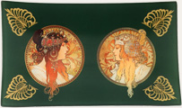 Mucha Goddess Green tray