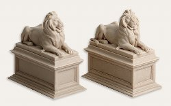 New York Public Library Lion Bookends